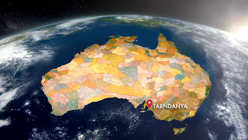 Tarndanya (Adelaide) on Australian map